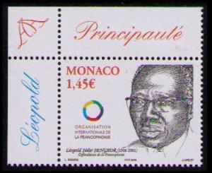 Monaco Leopold Sedar Senghor SG#2747 MI#2791