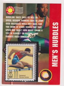 32068p Olympic Men's Hurdles MNH Single in mount on Stampers Card