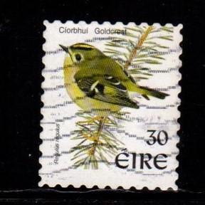 Ireland -  #1115 Goldcrest (Diecut) - Used