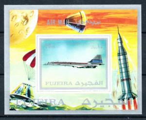 [93544] Fujeira 1971 Aviation Concorde Airplane Imperf. Sheet MNH