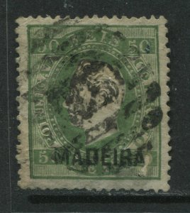 Madeira overprinted 1872 50 reis used
