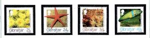 Gibraltar 662-65 MNH 1994 Marine Life