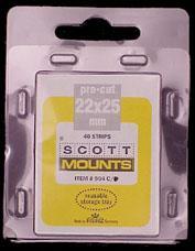 Scott Mounts Black 22/25, U.S.Def-Vert. (pkg 40)(00904B)