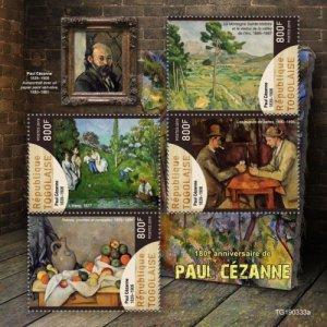 TOGO- 2019 - Paul Cezanne, 180th Birth Anniv - Perf 4v Sheet - MNH