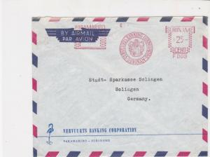 Suriname Vervuurts Banking Corporation Machine Cancel Airmail Stamps CoverR17610
