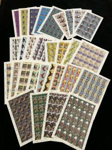 Papua PNG Headdress Rotary Insects Air Sport SHEETS MNH x31(725 Stamps)(Pap299