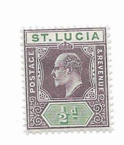 St. Lucia #50 MH - Stamp - CAT VALUE $8.00