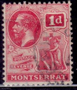 Montserrat, 1916, KGV, Symbol of the Colony, 1p, sw#42, used