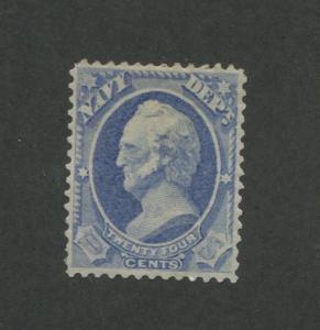 1873 United States Navy Dept Official Stamp #O43 VF Mint Hinged Disturbed OG