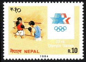 Nepal 422, MNH. Olympics, Los Angeles. Boxing, 1984