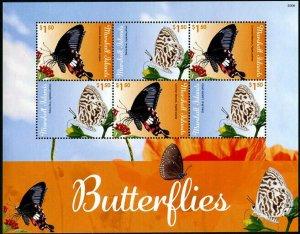 HERRICKSTAMP NEW ISSUES MARSHALL ISLANDS Butterflies Sheetlet