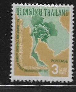 THAILAND  439  MNH MAP OF THAILAND 1965