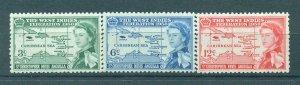 St. Kitts & Nevis sc# 136-138 (2) mh cat value $3.80