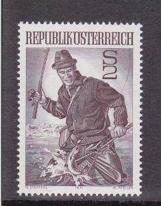Austria # 912, Fly Fisherman, Mint Never Hinged Set