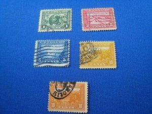UNITED STATES,  19013 SCOTT #397-400A  -  Used