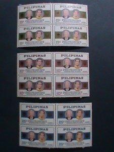 PHILIPPINES-1965-SC#919-21-VISIT- PRESIDENT HEINRICH LUBKE-GERMANY-MNH BLOCK