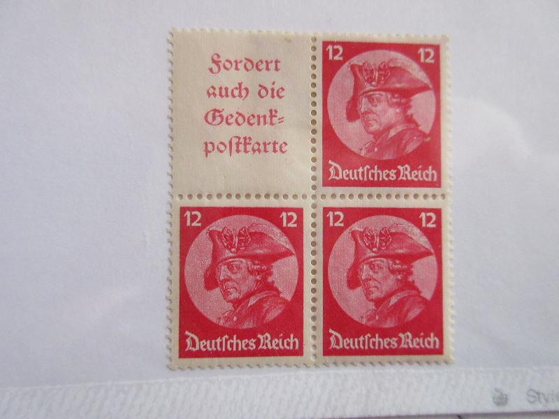 GERMANY Zusammendrucke Michel W45 & S102 block of 4, MINT HINGED G8 Cat 15 Euros
