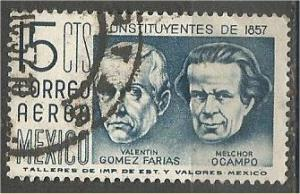 MEXICO, 1956, used 15c, Farias and Melchor, Scott C236