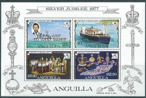Anguilla #300a Royal Visit Souvenir Sheet of 4 (MNH) CV$1.75