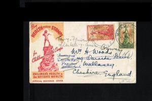 1945 - New Zealand FDC Mi. 280-281 - Health & Medicine - Children's Health Ca...