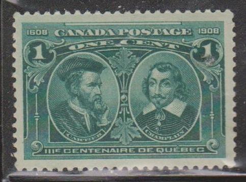 CANADA Scott # 97 MNH - Quebec 300th Anniversary Cartier & Champlain