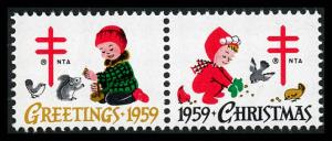 WX Christmas Seal Mint (NH) 1959 Pair