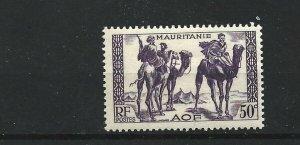 MAURITANIA  1938 - 40  50C  VIOLET           MH