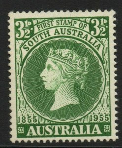 AUSTRALIA SG288 1955 CENTENARY OF FIRST SOUTH AUSTRALIAN STAMP MNH
