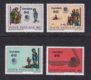 Vatican City   #687-690   MNH   1981  congress Lourdes  pilgrims