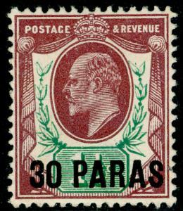 BRITISH LEVANT SG29, 30pa on 1½d reddish purple & bright green, M MINT.