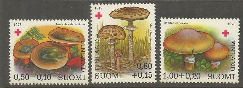 FINLAND  B215-B217  MINT HINGED, FOREST AND WETLAND PLANTS