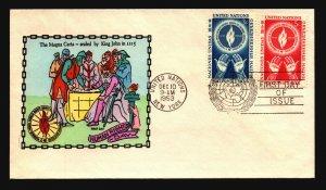UN 1953 Human Rights FDC / Hand Colored - L3761