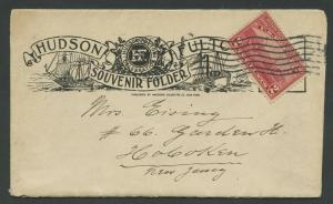 #372 FDC 9/25/1909 ON HUDSON-FULTON SOUVENIR FOLDER CV $1,500++ WLM8160