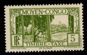 Moyen Middle Congo Scott J23 MH* postage due