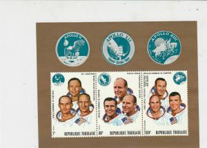 Republic Togolaise Space Theme Astronauts Apollo M.N.Hingd Stamps Sheet Ref23688