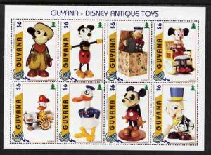Guyana 1996 Disney Antique Toys perf sheetlet containing ...