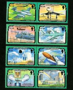 Montserrat Stamps # 863-6 XF OG NH