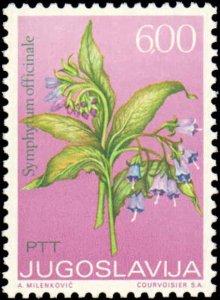Yugoslavia #1140-1145, Complete Set(6), 1973, Flowers, Never Hinged