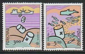 1986 Faroe Islands - Sc 143-4 - MNH VF - 2 single - Europa