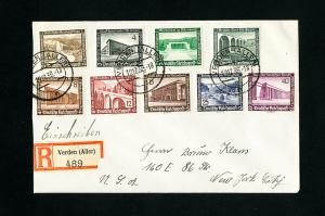 Germany Stamps B93-101 on Registered Cover