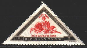 San Marino. 1952. 487 from the series. Roses, flowers. MNH.