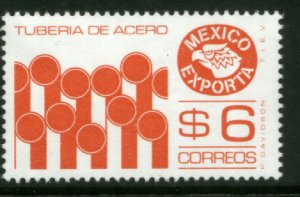 MEXICO Exporta 1121, $6P Steel Pipes Perf. 14 Fluor Paper 6. MINT, NH. VF.