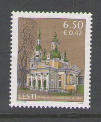 Estonia Sc 639 2010 6.5k Church, Parnu stamp mint NH