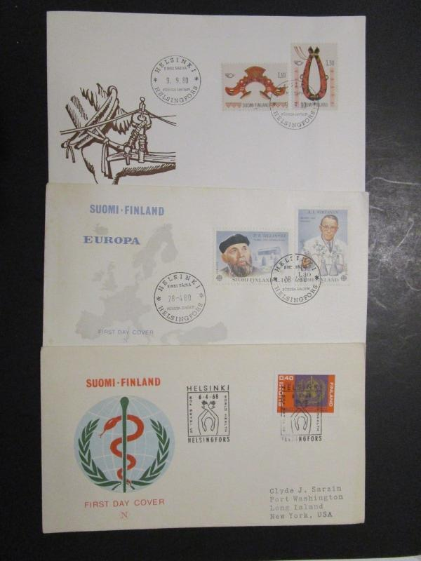 Finland - 5 First Day Covers - M57