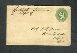 Tennessee Postal Stationery Cover Yorkville M/S April 8