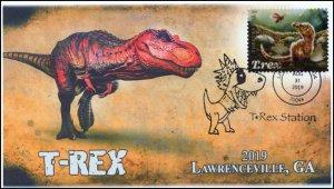 19-214, 2019, Tyrannosaurus Rex, Pictorial Postmark, Event Cover, Summerville SC