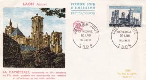 France 1960 Laon Cathedral FDC Unadressed VGC