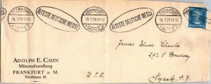 1929 Cahn coin dealier Frankfurt Germany > Nyack NY cover Alteste Deutsche Messe