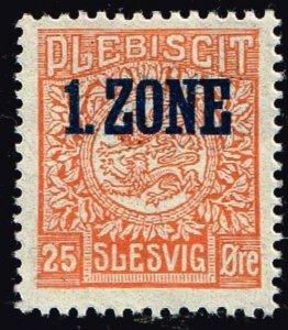 GERMANY STAMP PLEBISCIT 1.ZONE OVERPRINT SLESVIG  25øre MH/OG TYPE 7 IV  $76