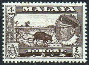 Johore 1960 4c Ricefield MH